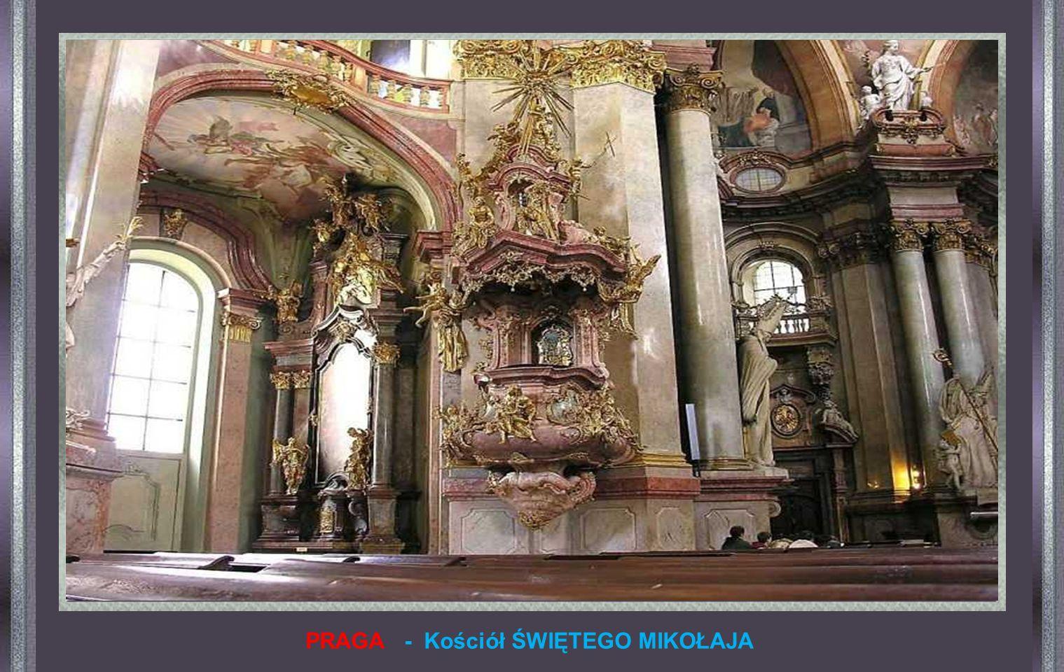 PRAGA - Kościół ŚWIĘTEGO MIKOŁAJA