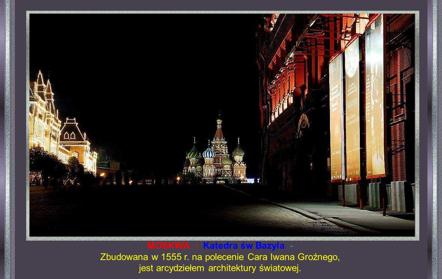 MOSKWA - Katedra św Bazyla -