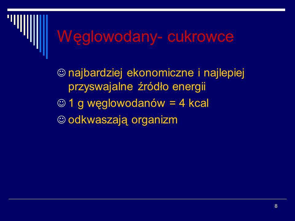 Węglowodany- cukrowce