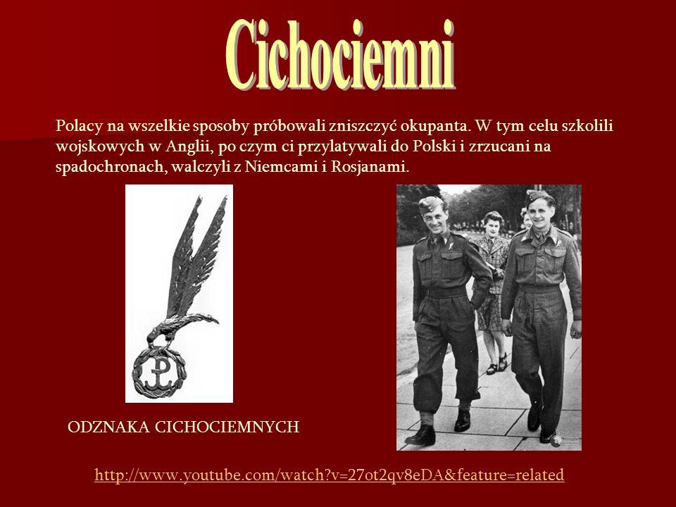 Cichociemni Polacy na wszelkie sposoby próbowali zniszczyć okupanta. W tym celu szkolili.