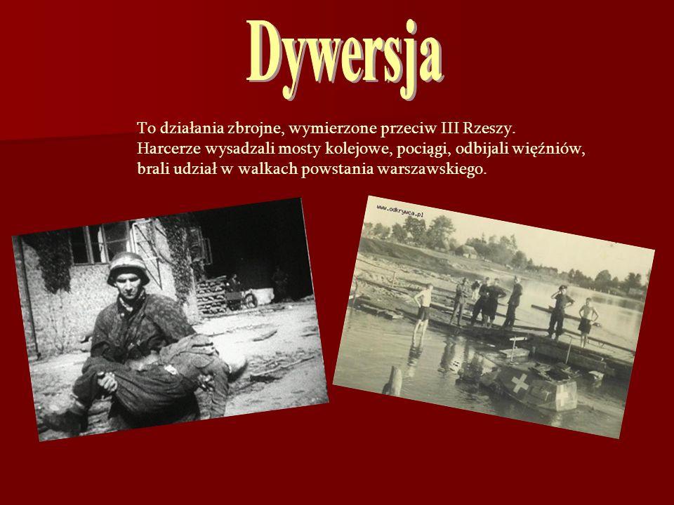 Dywersja To działania zbrojne, wymierzone przeciw III Rzeszy.