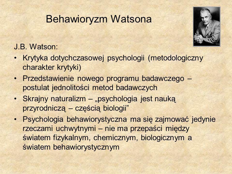 Behawioryzm Watsona J.B. Watson: