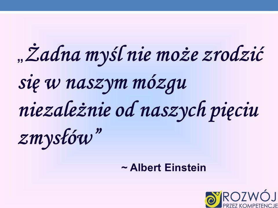 """""""Żadna myśl nie może zrodzić się w naszym mózgu niezależnie od naszych pięciu zmysłów"""