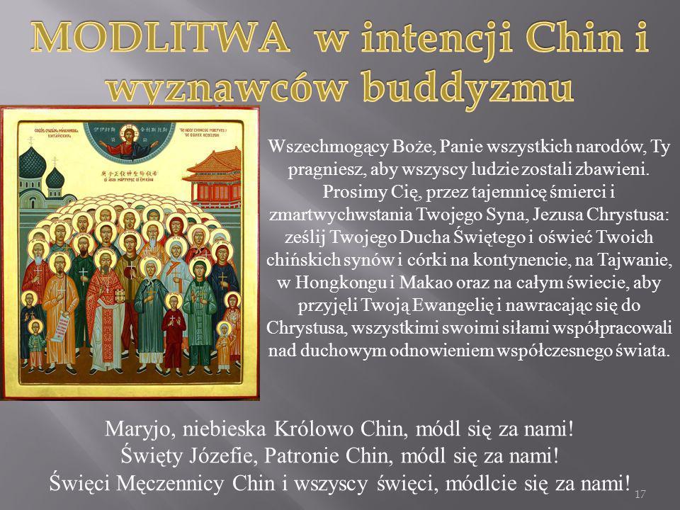 MODLITWA w intencji Chin i wyznawców buddyzmu