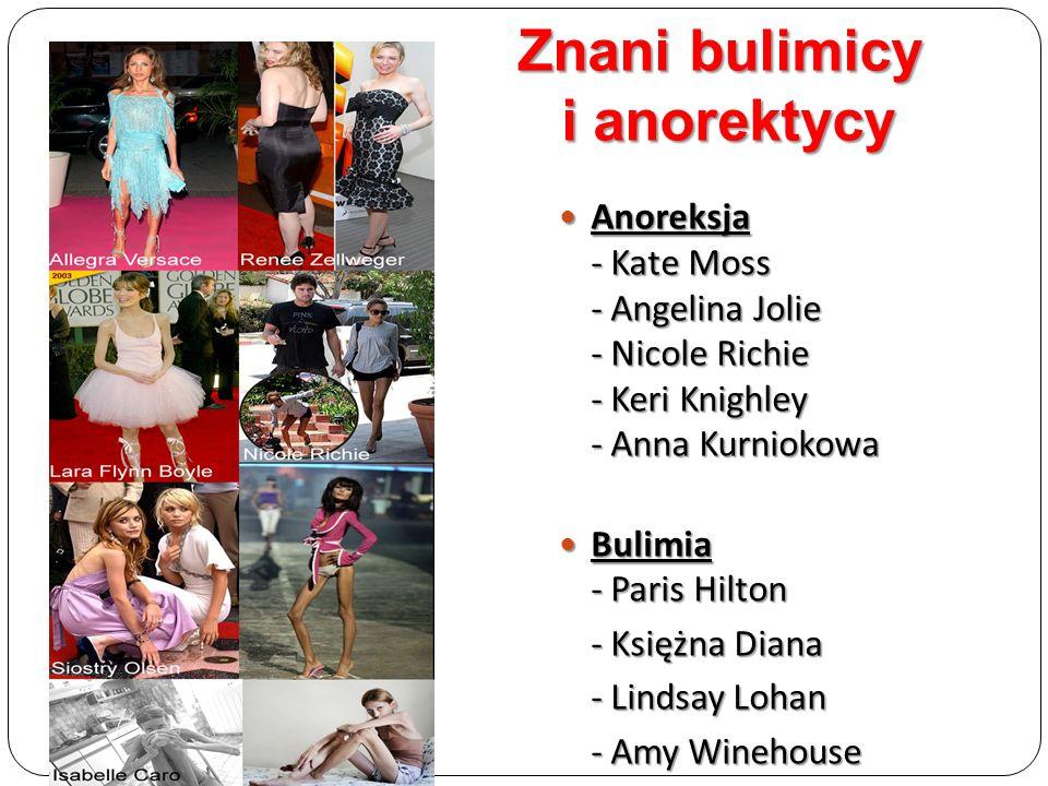Znani bulimicy i anorektycy