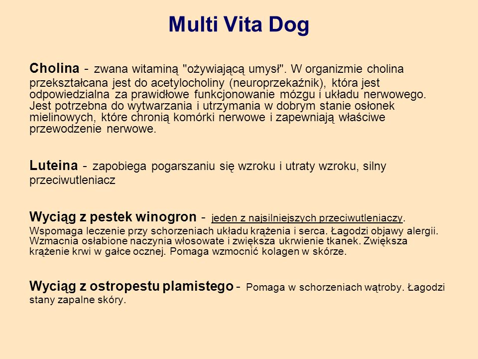 Multi Vita Dog