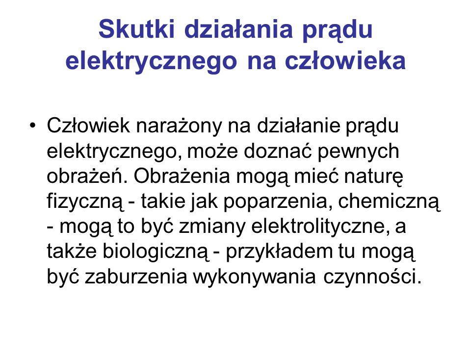 Skutki działania prądu elektrycznego na człowieka