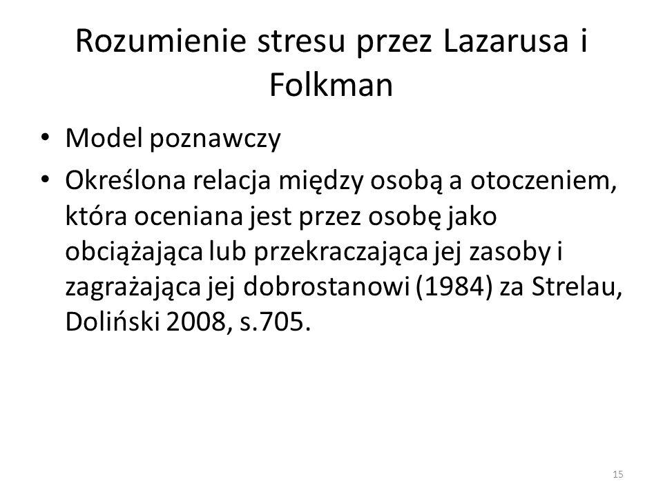 Rozumienie stresu przez Lazarusa i Folkman