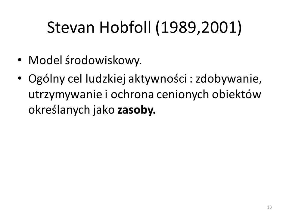 Stevan Hobfoll (1989,2001) Model środowiskowy.