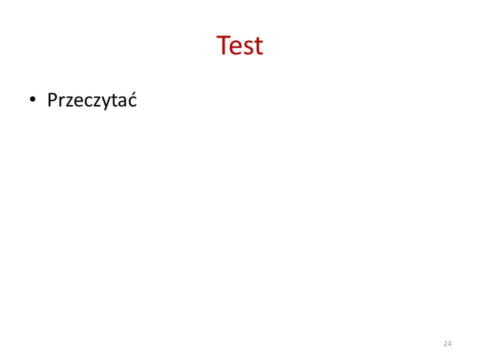 Test Przeczytać