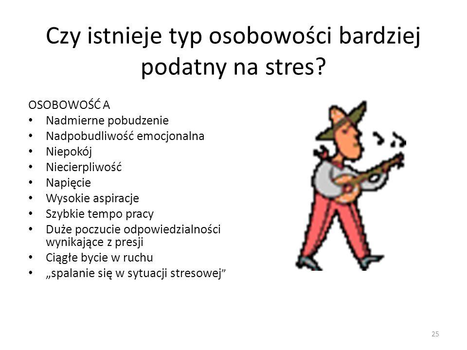 Czy istnieje typ osobowości bardziej podatny na stres