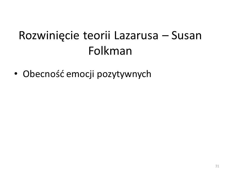Rozwinięcie teorii Lazarusa – Susan Folkman
