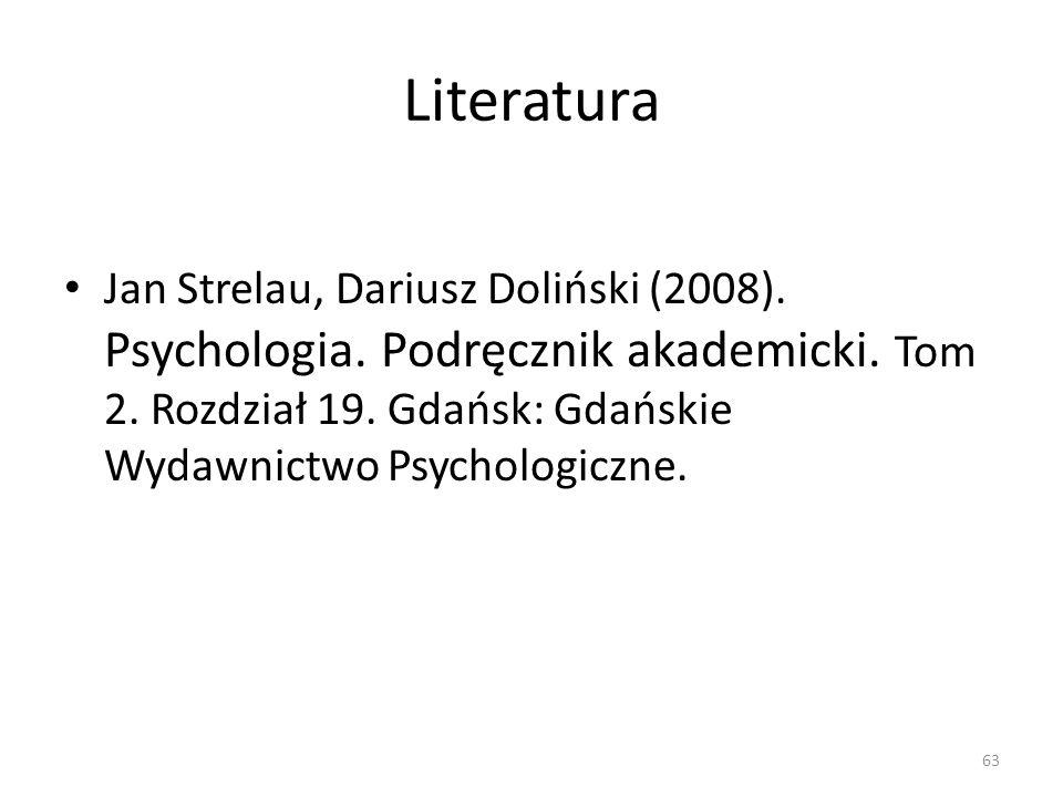 Literatura Jan Strelau, Dariusz Doliński (2008). Psychologia.