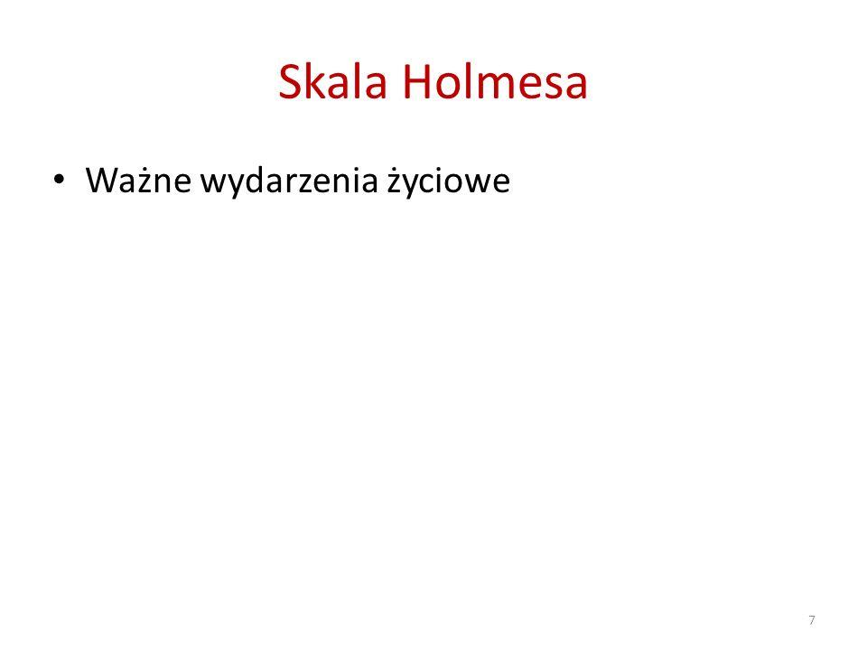 Skala Holmesa Ważne wydarzenia życiowe