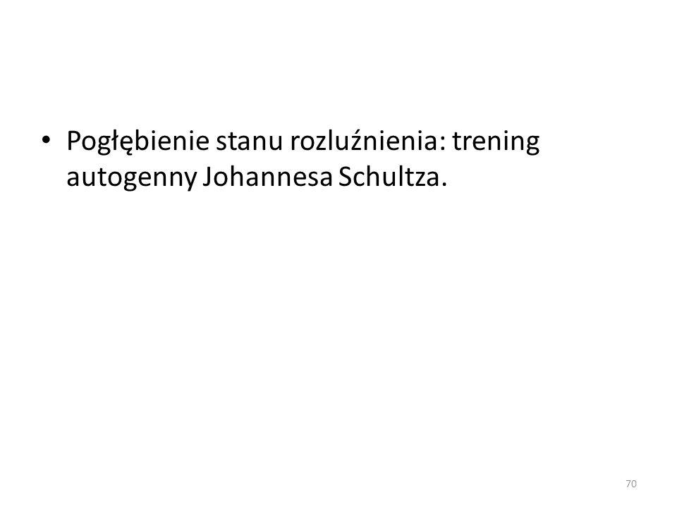 Pogłębienie stanu rozluźnienia: trening autogenny Johannesa Schultza.