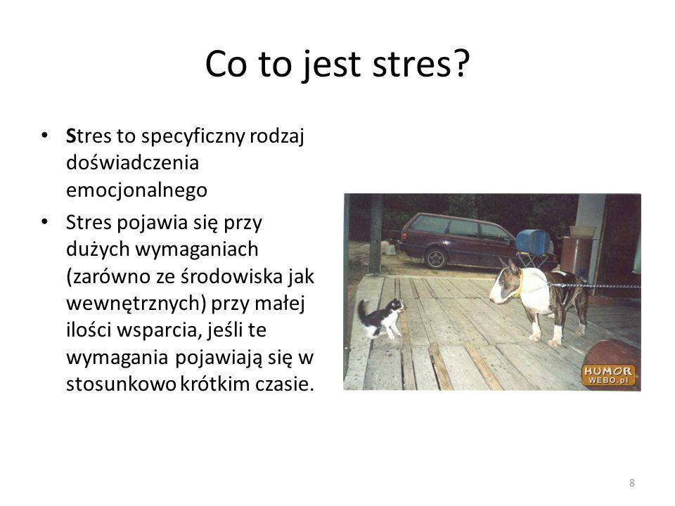 Co to jest stres Stres to specyficzny rodzaj doświadczenia emocjonalnego.