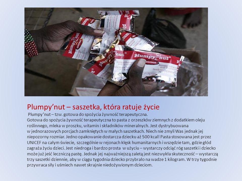 Plumpy'nut – saszetka, która ratuje życie Plumpy'nut – tzw