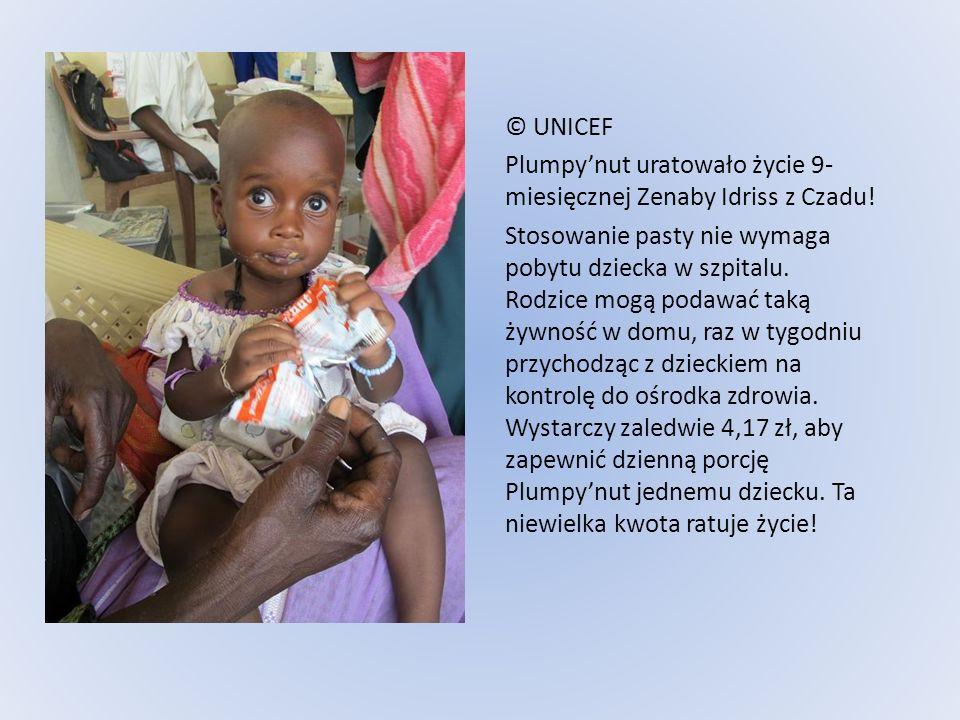 © UNICEF Plumpy'nut uratowało życie 9-miesięcznej Zenaby Idriss z Czadu!