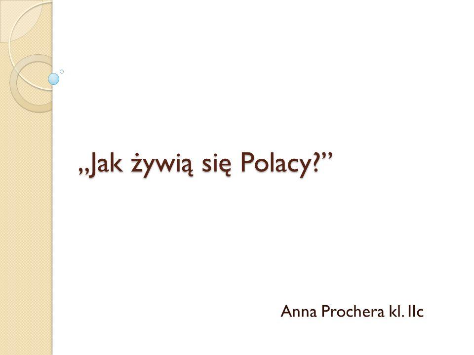 """""""Jak żywią się Polacy Anna Prochera kl. IIc"""