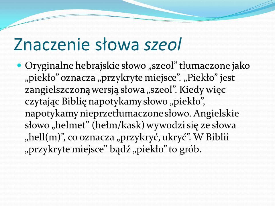 Znaczenie słowa szeol