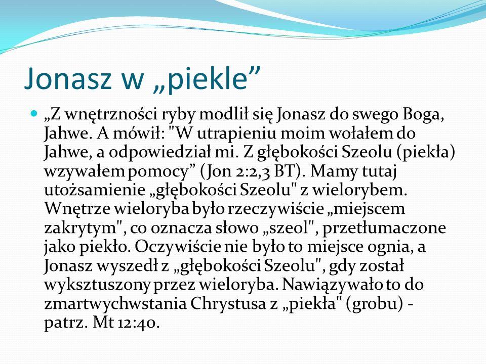 """Jonasz w """"piekle"""