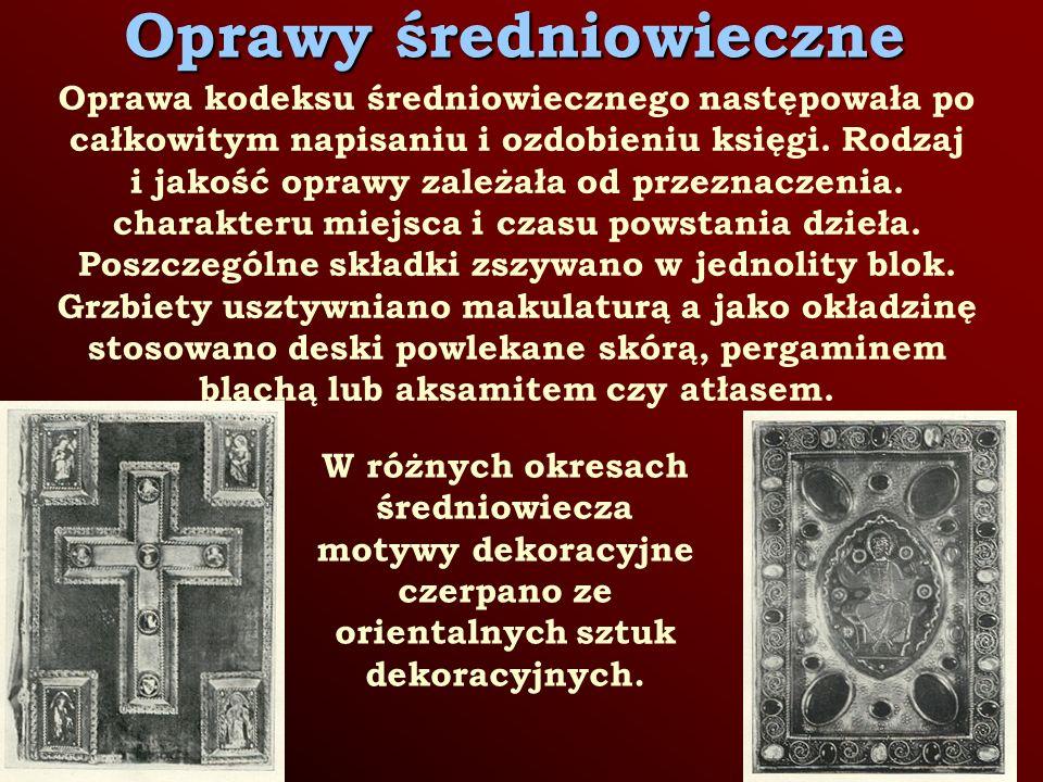 Oprawy średniowieczne