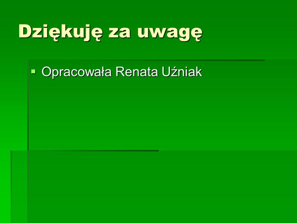 Dziękuję za uwagę Opracowała Renata Uźniak