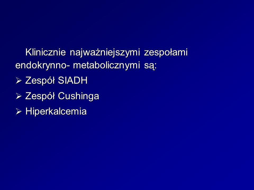 Klinicznie najważniejszymi zespołami endokrynno- metabolicznymi są: