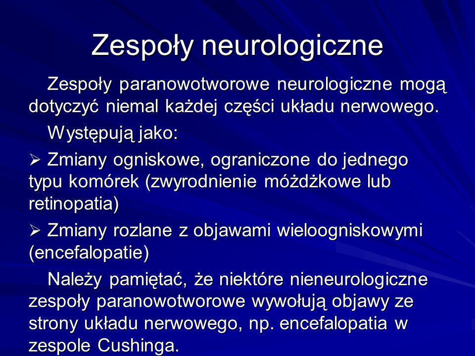 Zespoły neurologiczne