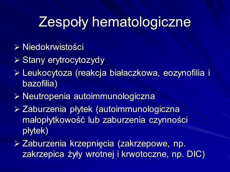 Zespoły hematologiczne