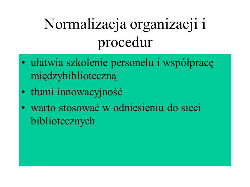 Normalizacja organizacji i procedur