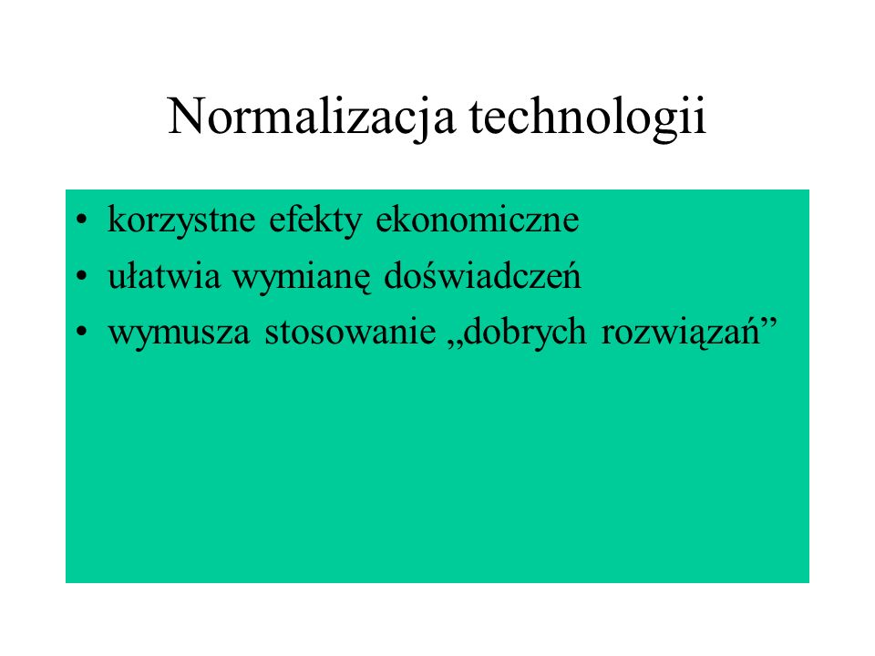 Normalizacja technologii