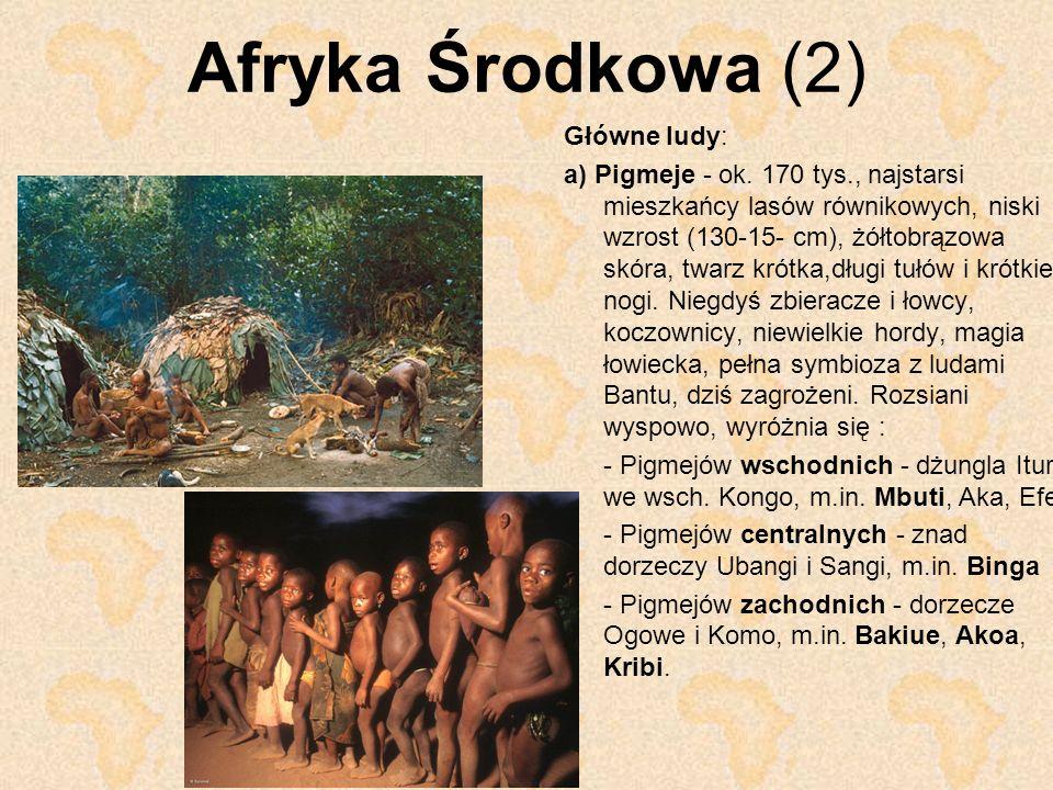 Afryka Środkowa (2) Główne ludy: