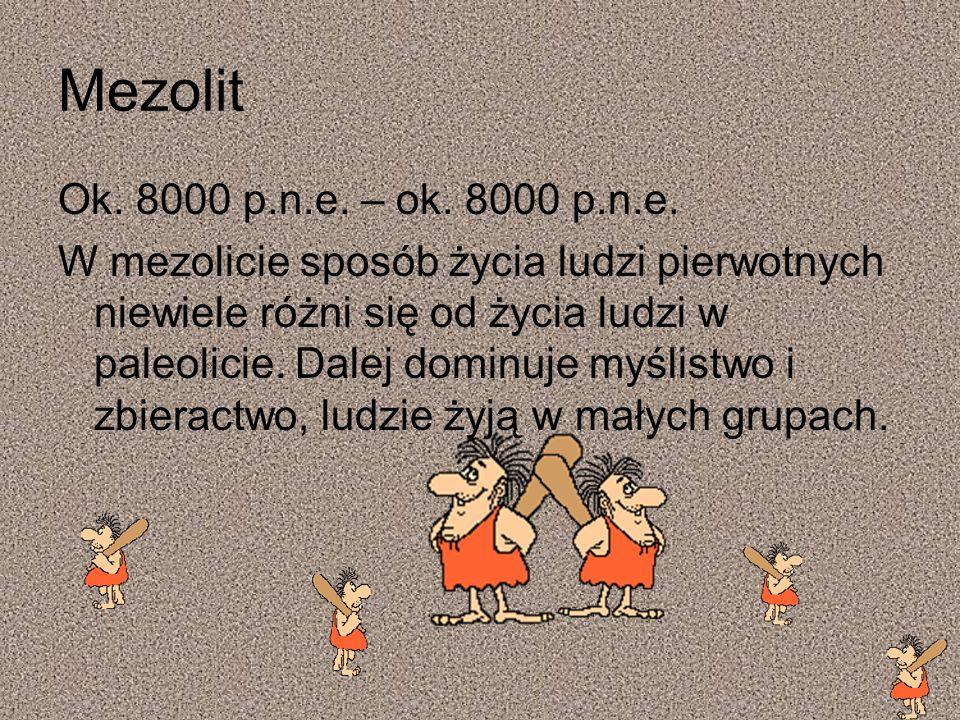Mezolit Ok. 8000 p.n.e. – ok. 8000 p.n.e.