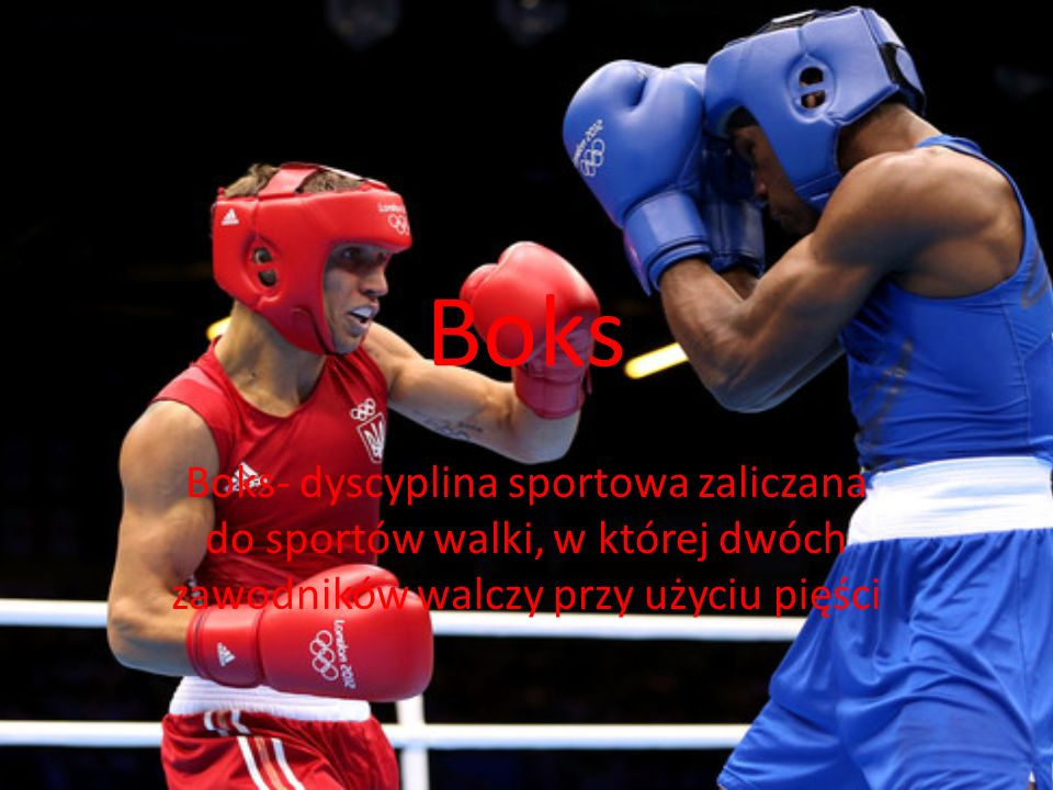 Boks Boks- dyscyplina sportowa zaliczana do sportów walki, w której dwóch zawodników walczy przy użyciu pięści.