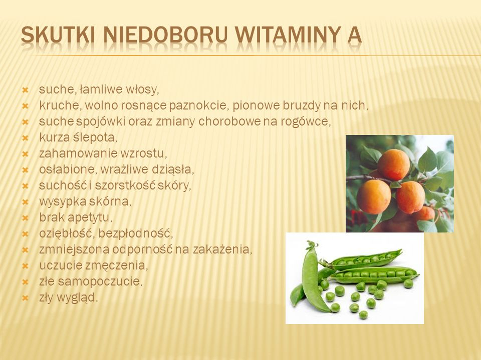 Skutki niedoboru witaminy A