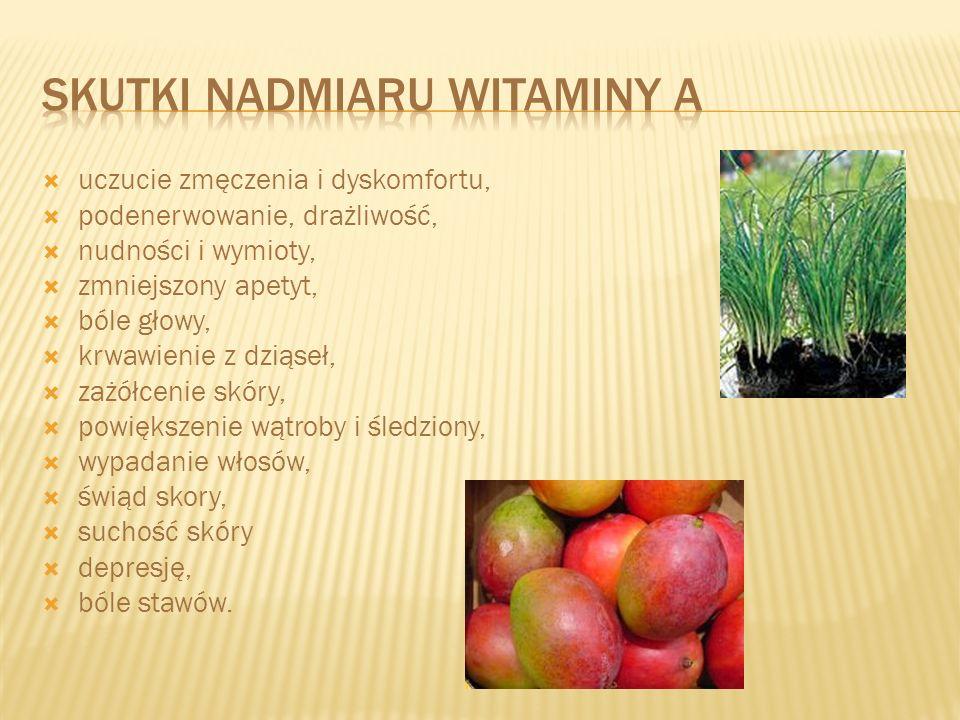 Skutki nadmiaru witaminy A