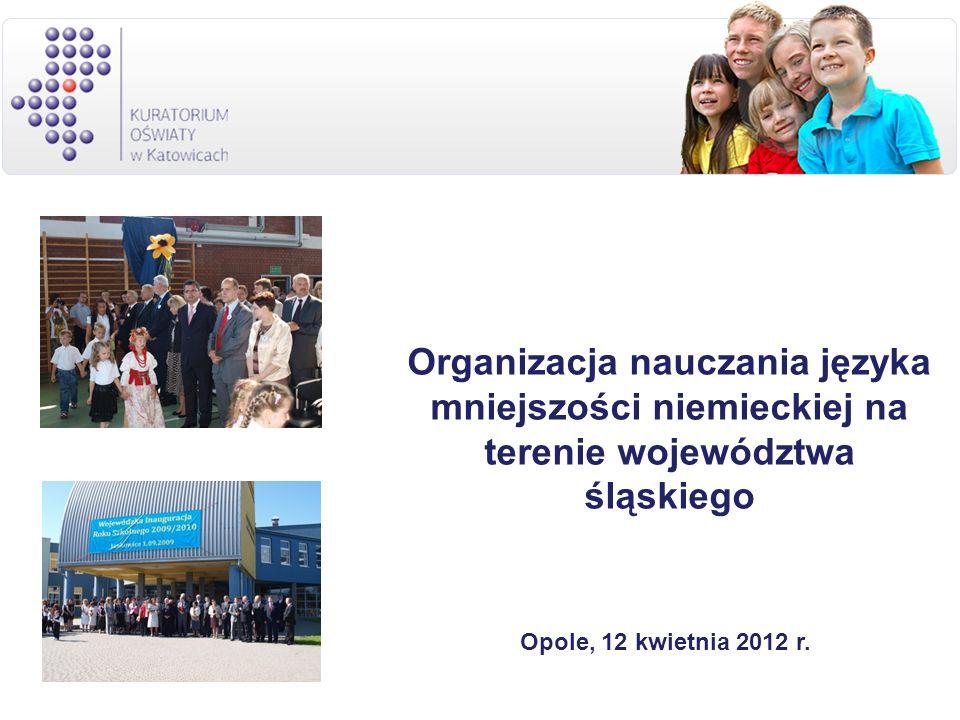 Organizacja nauczania języka. mniejszości niemieckiej na