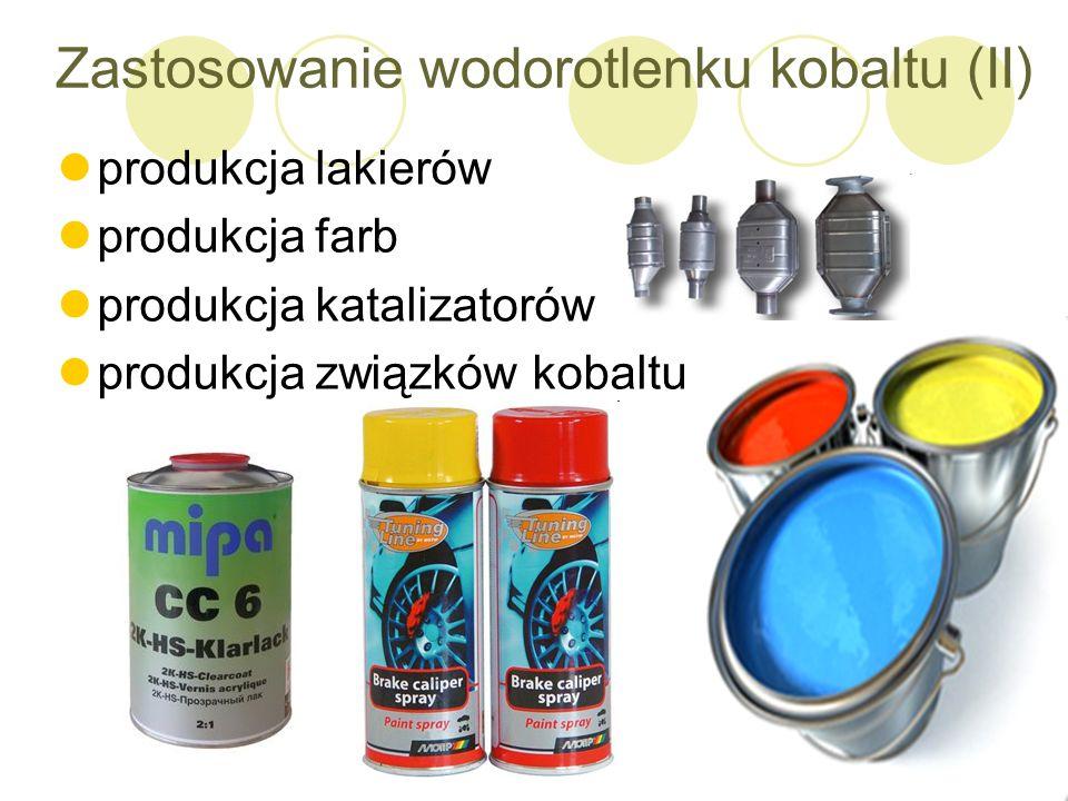 Zastosowanie wodorotlenku kobaltu (II)