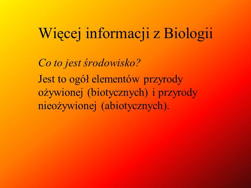 Więcej informacji z Biologii