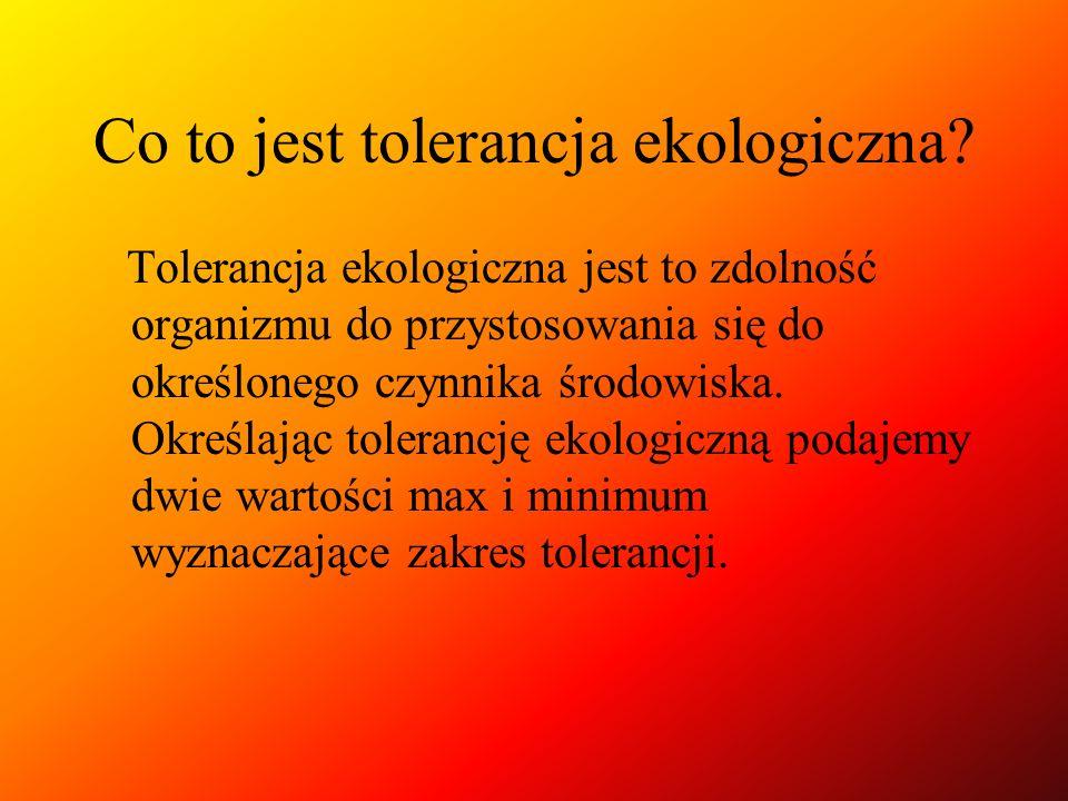 Co to jest tolerancja ekologiczna