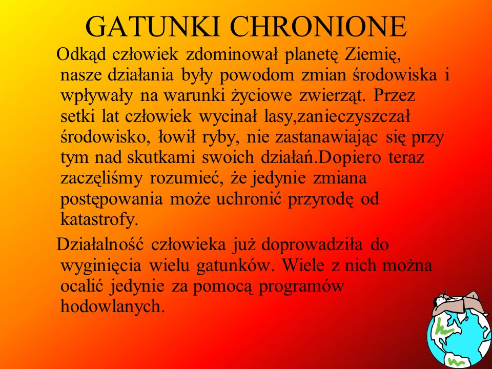 GATUNKI CHRONIONE