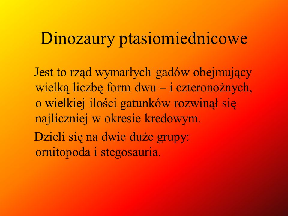 Dinozaury ptasiomiednicowe