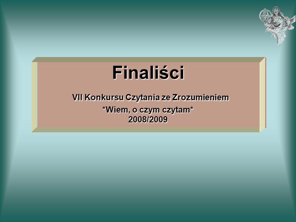 Finaliści VII Konkursu Czytania ze Zrozumieniem. Wiem, o czym czytam