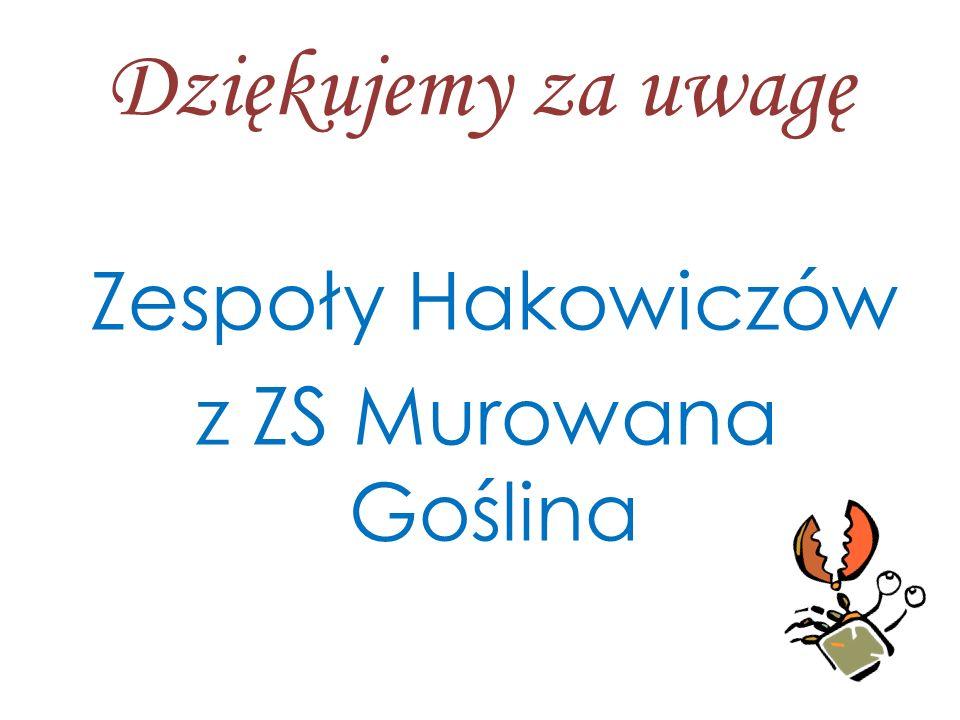 Zespoły Hakowiczów z ZS Murowana Goślina