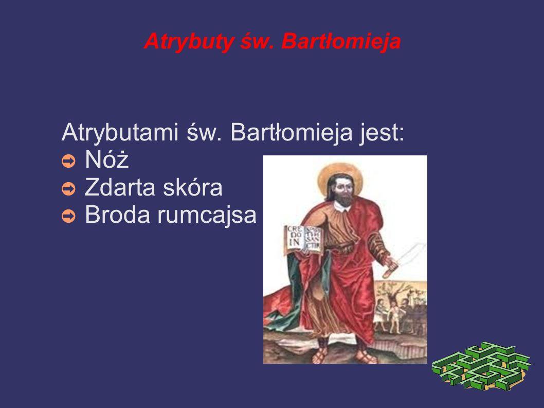 Atrybuty św. Bartłomieja