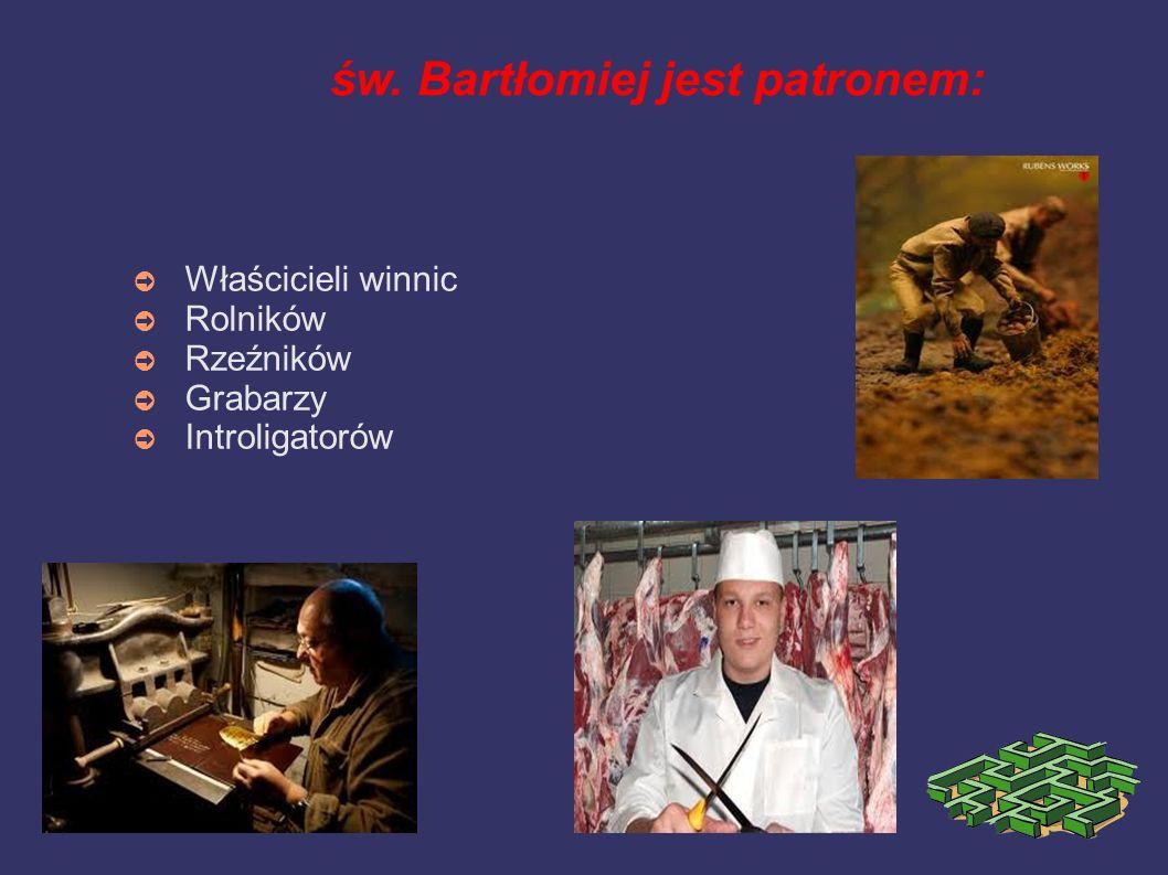 św. Bartłomiej jest patronem: