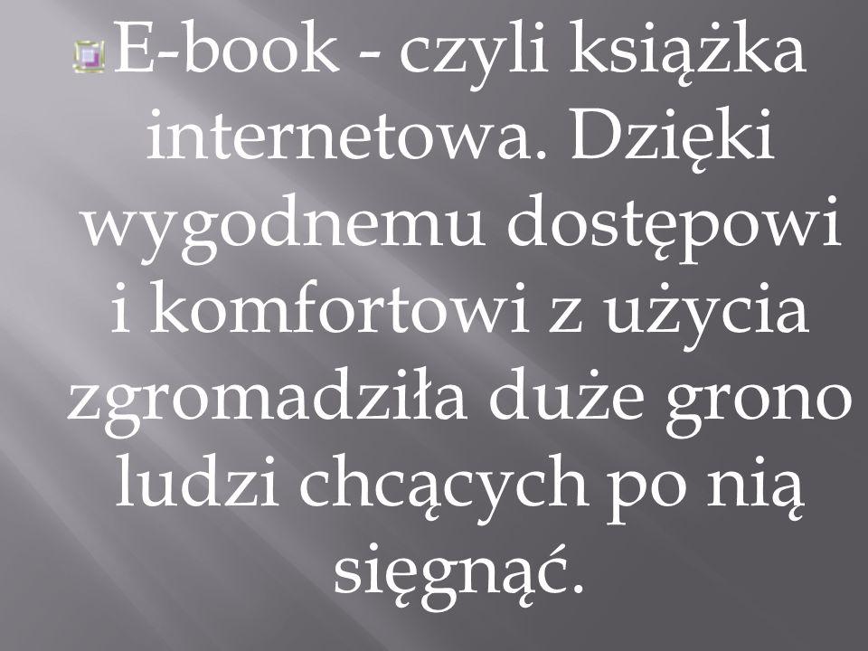 E-book - czyli książka internetowa