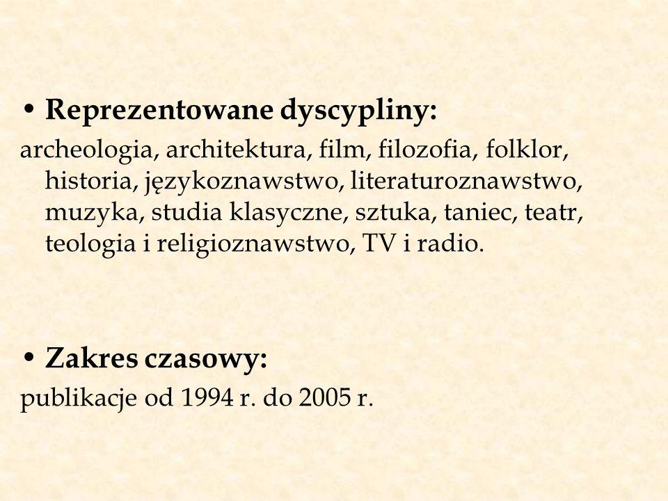Reprezentowane dyscypliny: