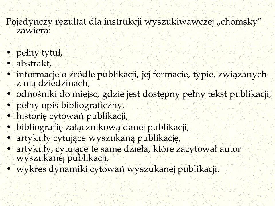 """Pojedynczy rezultat dla instrukcji wyszukiwawczej """"chomsky zawiera:"""